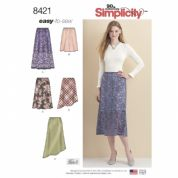 8421 Simplicity Pattern: Misses' Skirts